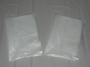 "Clear strong sacks 20 x 30"" 500 Gauge Strength x 100"