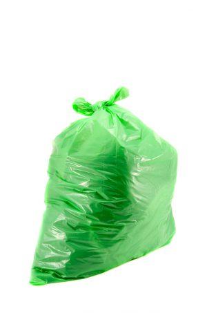 "Green plastic sacks Heavy Duty 18x29x39"" x 100. 15kg"